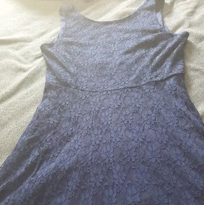Plus size Navy blue lace dress